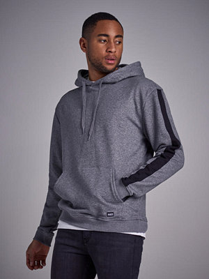 Street & luvtröjor - William Baxter Side Panel Hoodie Greymelange