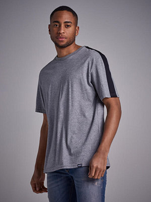 T-shirts - William Baxter Side Panel T-shirt Grey Melange