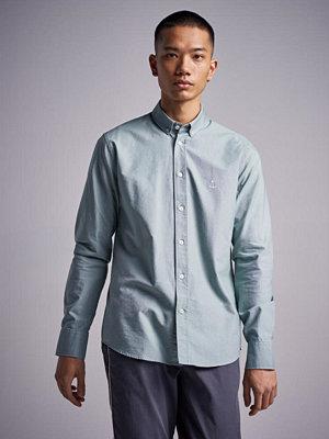 Skjortor - The Blue Uniform Herrman OX Shirt Mint Green