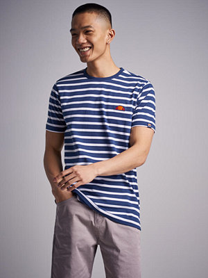 T-shirts - Ellesse Sailo Stripe Tee Navy