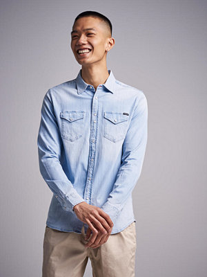 Skjortor - Replay RBJ Denim Shirt Light Used
