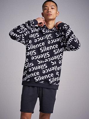 Street & luvtröjor - Speechless Silence hoodie black/whit