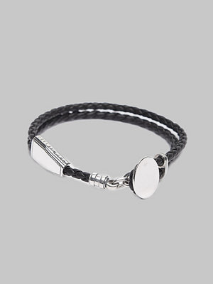 Smycken - Thomas Sabo A1863 Leather Bracelet Black