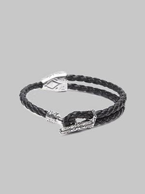 Smycken - Thomas Sabo A1859 Leather Bracelet Black