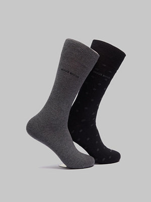 Strumpor - BOSS 2-pack RS Dot Black/Grey