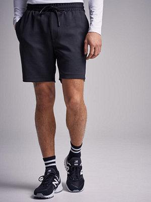 Shorts & kortbyxor - Just Junkies Alfred Short Track Black / Offwhite