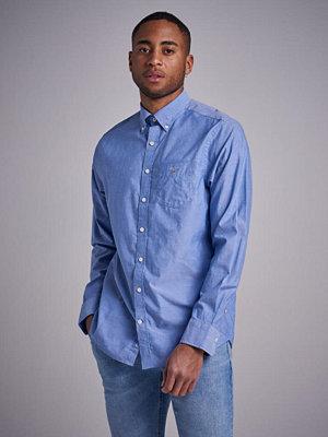 Skjortor - Gant The Broadcloth Reg BD College Blue