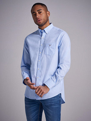 Skjortor - Gant The Broadcloth Reg BD Hamptons Blue