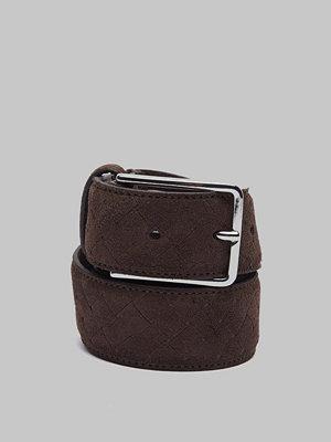 Bälten & skärp - Saddler 78703 Nubuck Belt Brown
