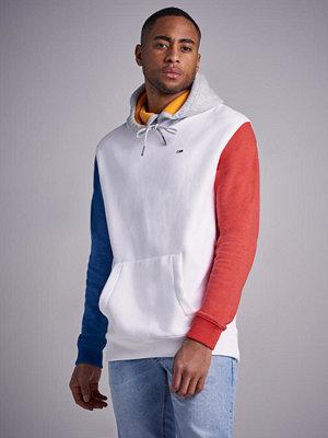 Street & luvtröjor - Tommy Jeans TJM Colorblock Hoodie White