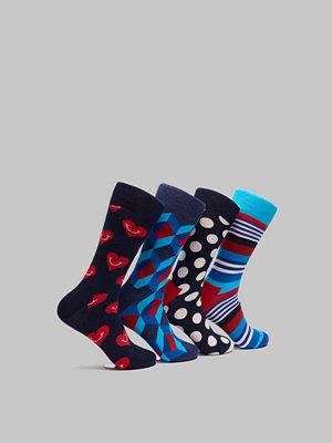 Strumpor - Happy Socks 4-pack Navy Box 6300 Mix