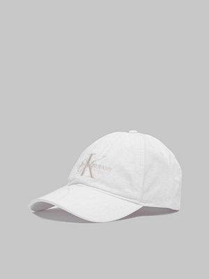 Calvin Klein Monogram Cap White