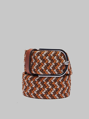 Bälten & skärp - Saddler 78687 Braided Belt Beige/Brown/Orange