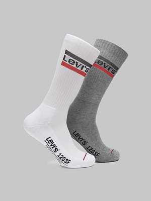 Strumpor - Levi's 2-pack Sportwear Logo Reg Cut 062 White/Grey