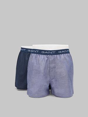 Kalsonger - Gant 2-pack Woven Boxershorts 475 Hurricane blue