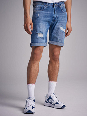 Shorts & kortbyxor - Just Junkies Mike Short PBH Pilo Blue Holes