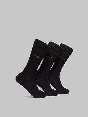 Strumpor - Gant 3-pack Mercerized Cotton Socks Black