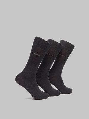 Strumpor - Gant 3-pack Mercerized Cotton Socks Charcoal Melange