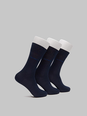 Strumpor - Gant 3-pack Mercerized Cotton Socks Marine