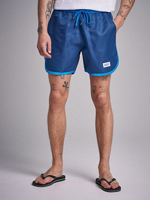 Badkläder - Frank Dandy St Paul Long Bermuda Shorts Blue/Blue