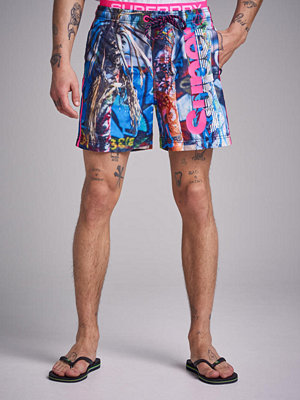 Badkläder - Superdry Photographic Volley Shorts Q2H Photo Print