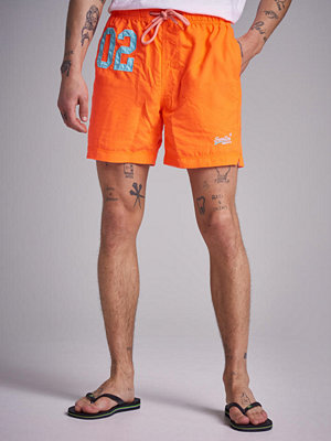 Badkläder - Superdry Waterpolo Swinshorts VQH Havana Orange