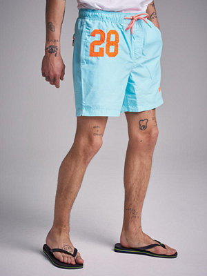 Badkläder - Superdry Waterpolo Swinshorts Q2R Light Lagun Blue