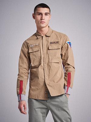 Replay RBJ Cotton Jacket Khaki