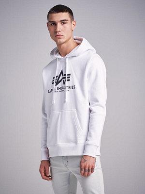 Street & luvtröjor - Alpha Industries Basic Hoody 09 White