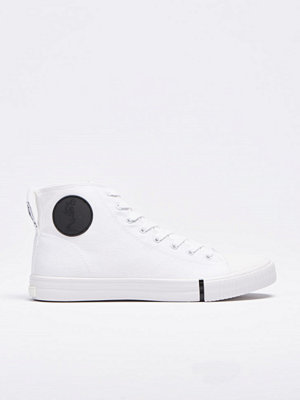 Sneakers & streetskor - Religion Skeleton Highrise Sneaker White