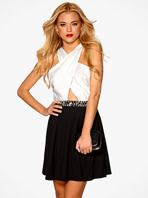 Mixed from Italy Jewel Waist Wrap Front Skater Dress