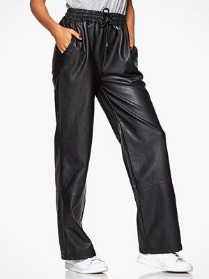Chiara Forthi svarta byxor Brave Leather Pants