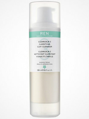 Ansikte - REN REN Clear Calm 3 Clarifying Clay Cleanser (150ml)