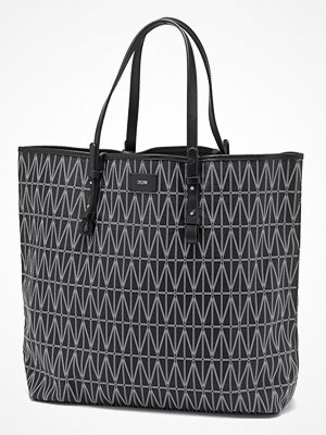 Dagmar svart mönstrad väska Shopping Bag