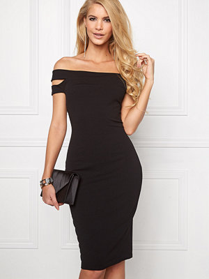 Goddiva Double Bardot Midi Dress
