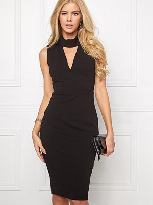 Goddiva Cutout High Neck Midi