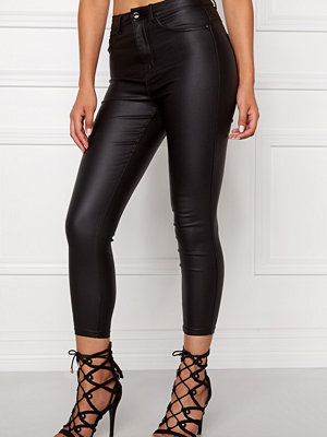 Only svarta byxor Royal HW Rock Coated Pant