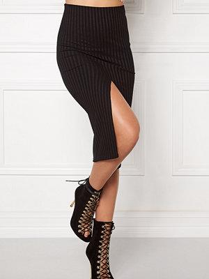 Bubbleroom Rib slit skirt