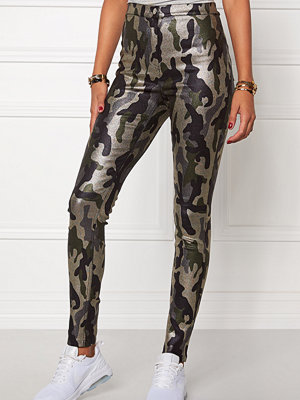Mixed from Italy mönstrade byxor Glitter Camo Jeggings