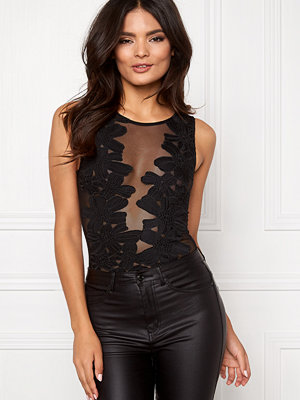 Club L Mesh Applique Bodysuit