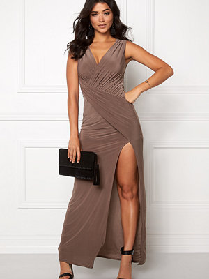 Goddiva Front Split Maxi Dress