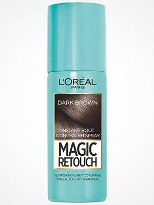 Hårprodukter - L'Oréal Paris Loreal Magic Retouch Instant Root Concealer Spray - Dark Brown