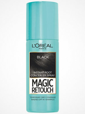 Hårprodukter - L'Oréal Paris Loreal Magic Retouch Instant Root Concealer - Spray Black