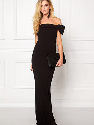 Goddiva Bardot Fishtail Maxi Dress