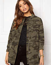 Pieces Camo Long Bomber Jacket