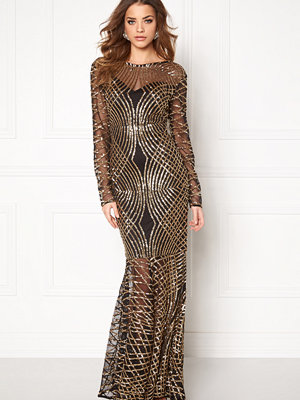 Club L Spiral Sequins Maxi Dress