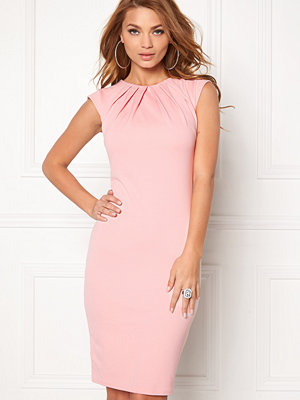 Goddiva Pleated Neckline Dress