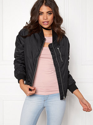 Rut & Circle svart bomberjacka Kate Front Zip Jacket