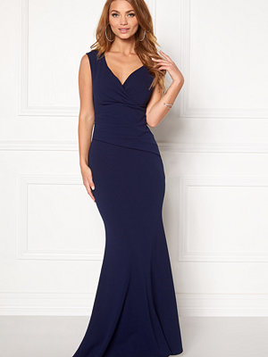 Goddiva Bardot Pleat Maxi Dress