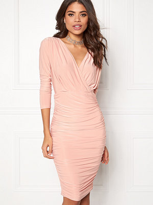 Ax Paris V Front Slinky Midi Dress